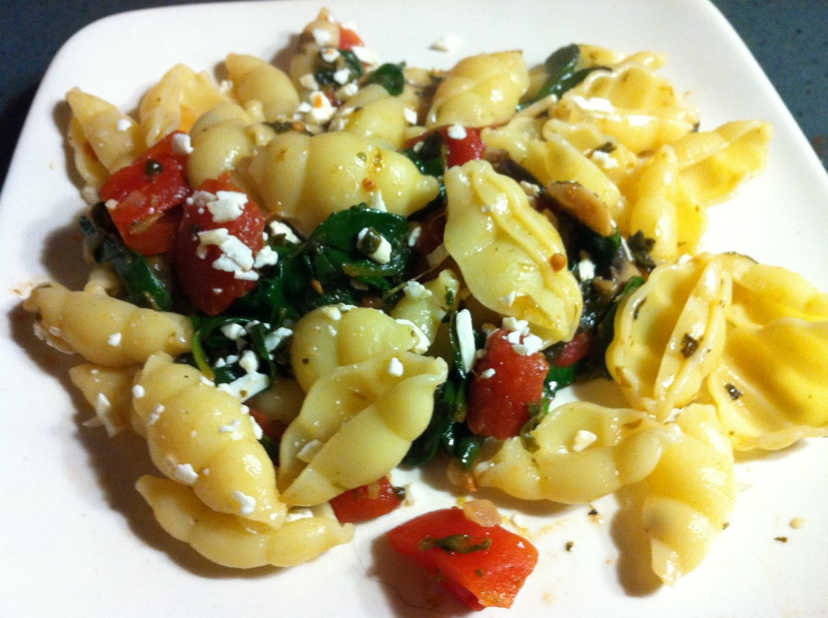 Spinach feta pasta is quick and easy to make