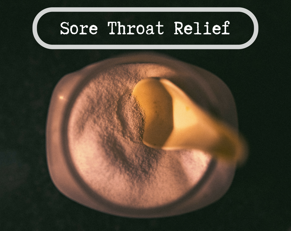 Common remedies for a sore throat.