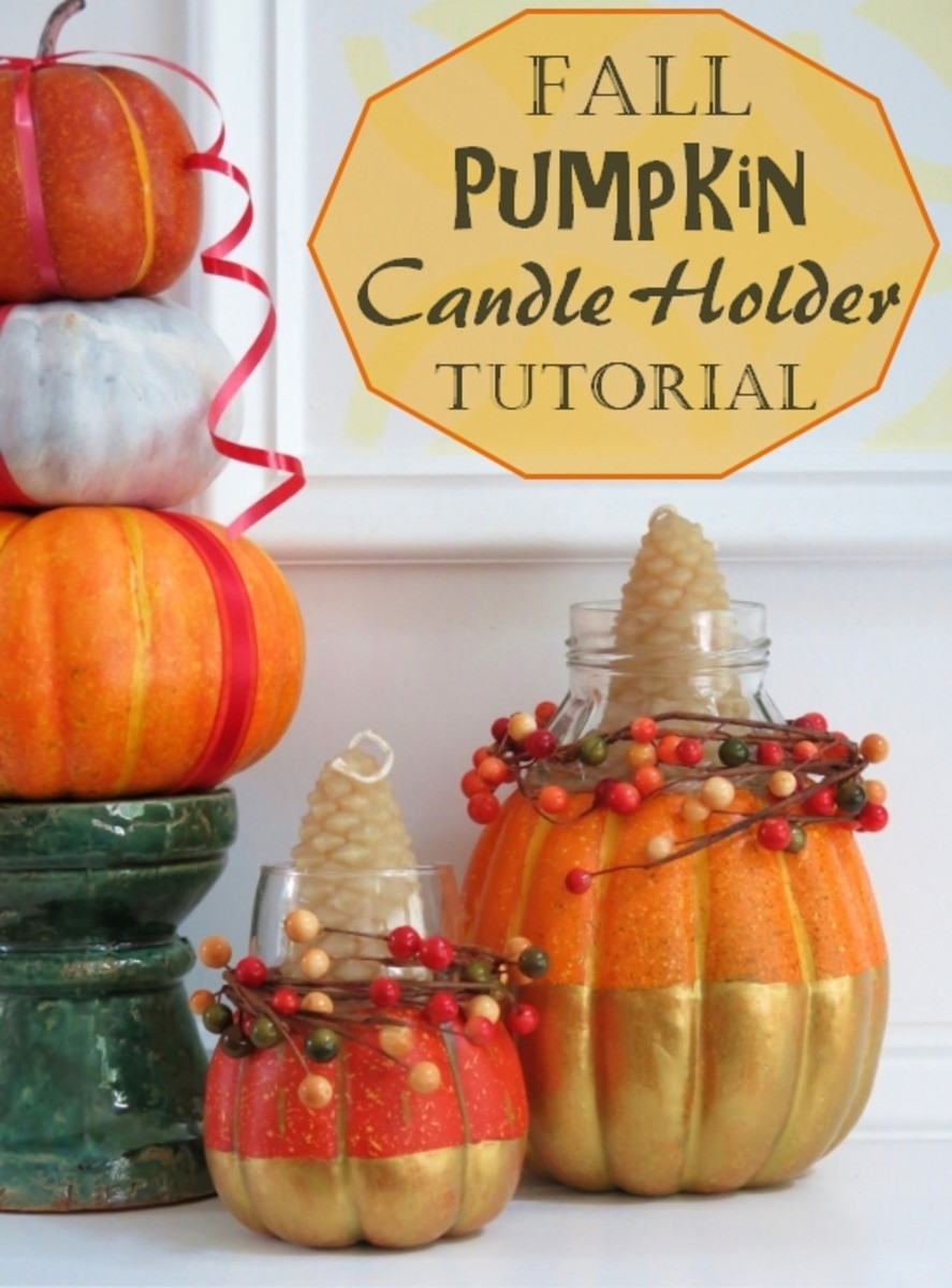 DIY Craft Tutorial:  How to Make a Festive Fall Candle Holder Using a Pumpkin