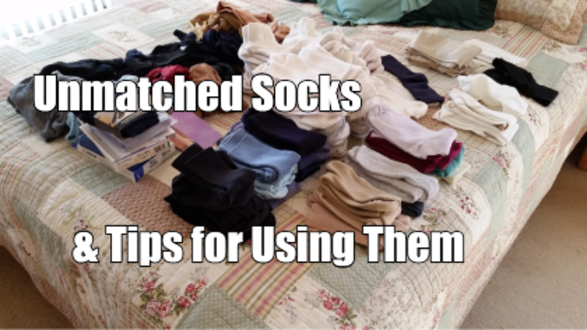 You are lucky if your socks all match up in pairs. Even the most organized family usually ends up with some stray socks that don't match anything.