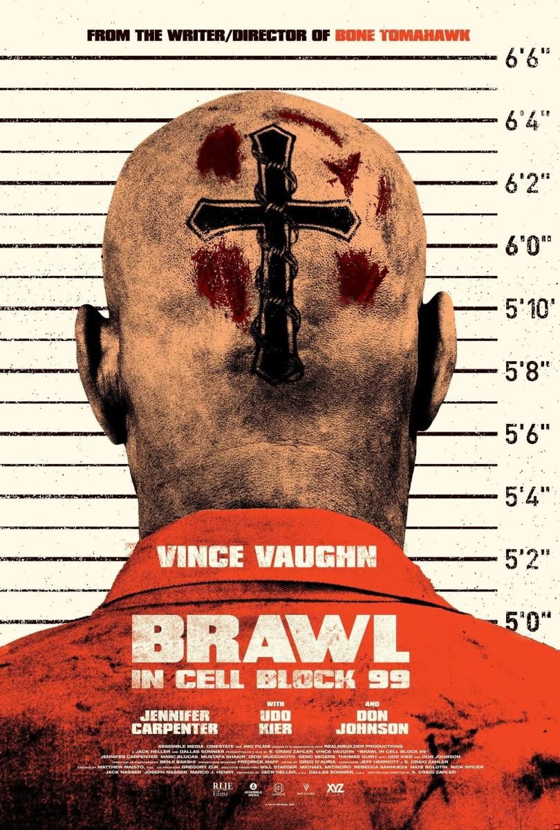 "The official one-sheet theatrical poster for ""Brawl in Cell Block 99."""