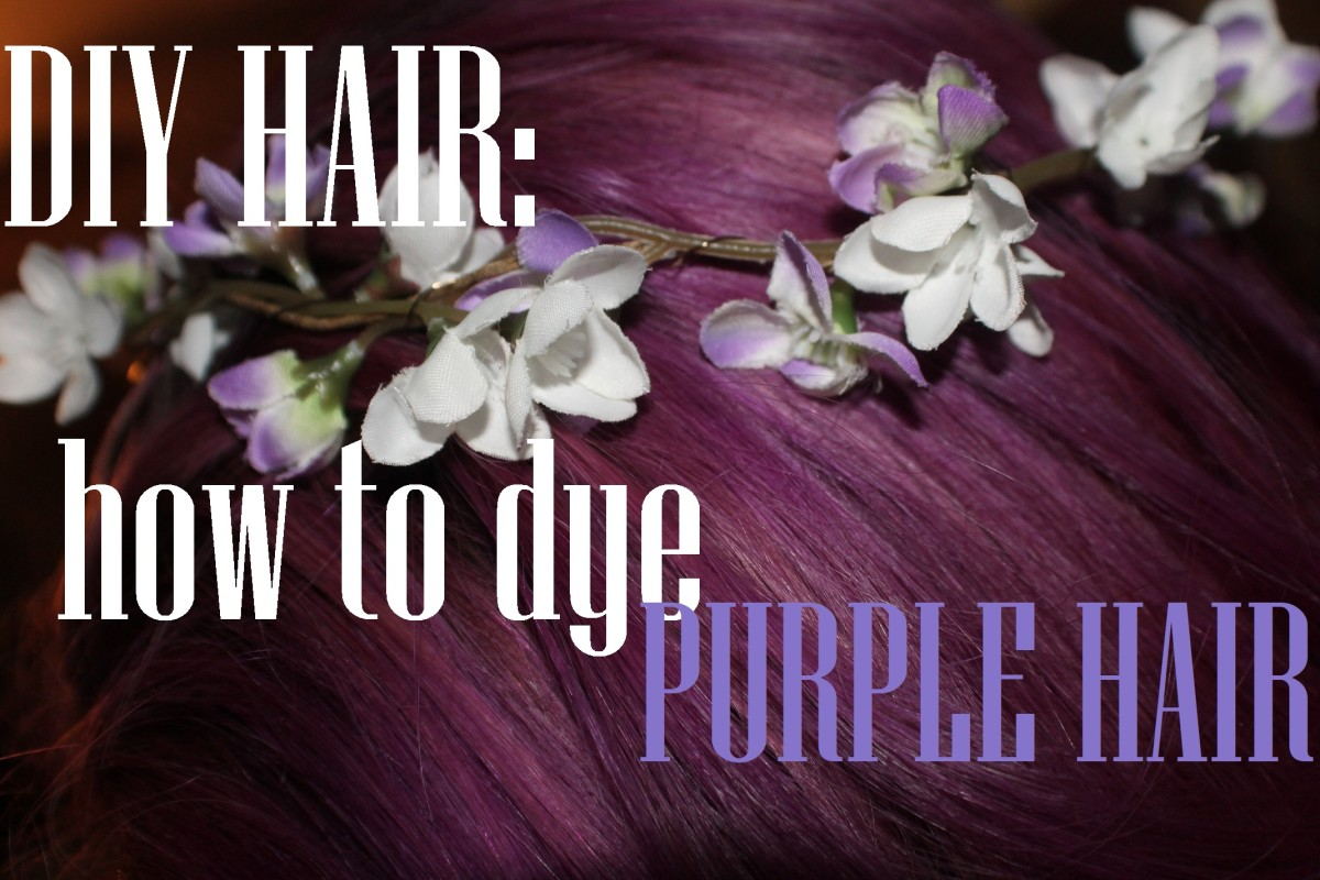 DIY: How to Dye Your Hair Purple With Manic Panic Purple Haze