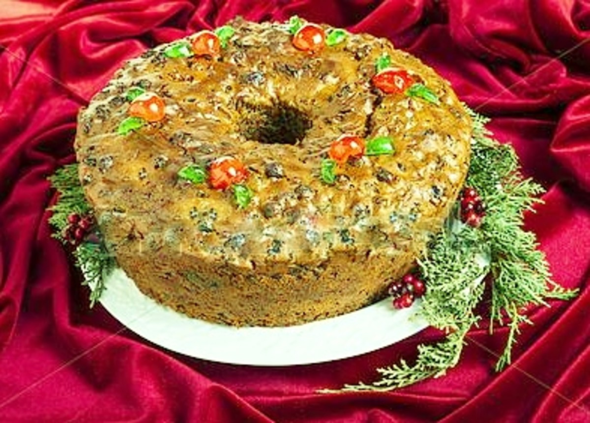 Fruitcake, a family tradition at Christmastime.