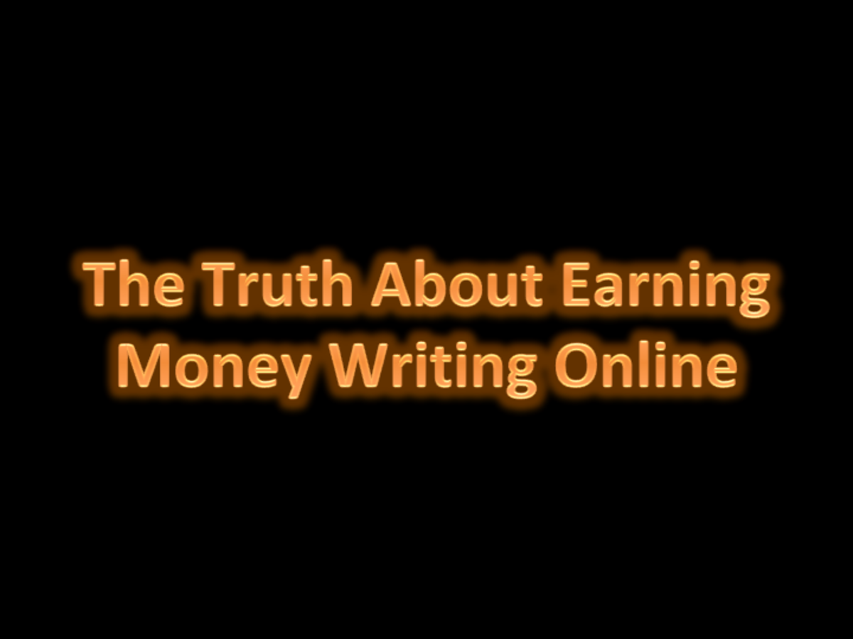 Learn some harsh truths about the difficulty of making money via your online writing.