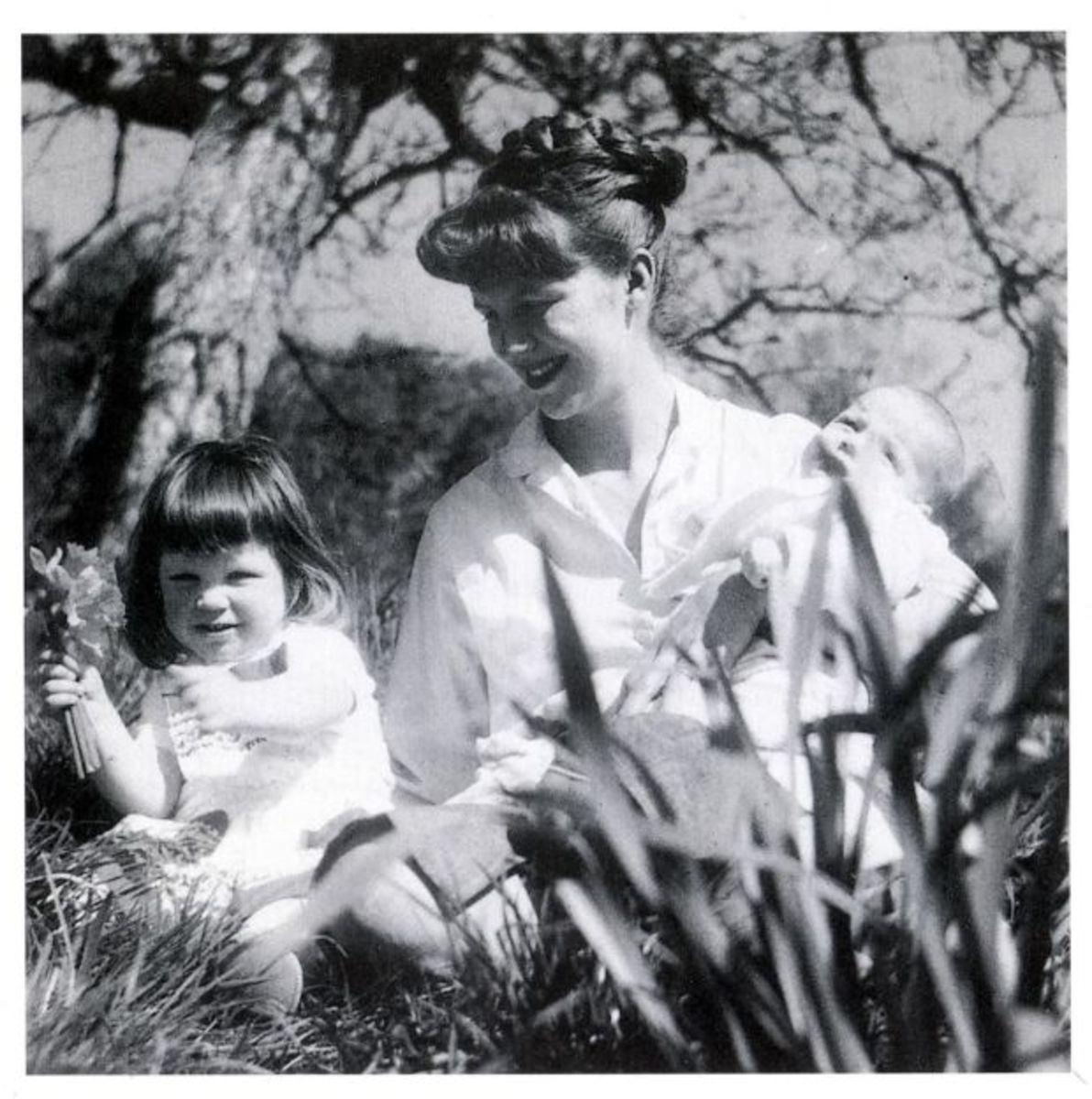 Sylvia Plath with her children