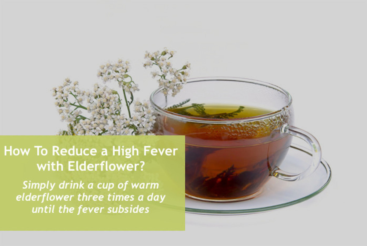 Elderflower, in addition to lowering a high fever, can also help ease cold symptoms.