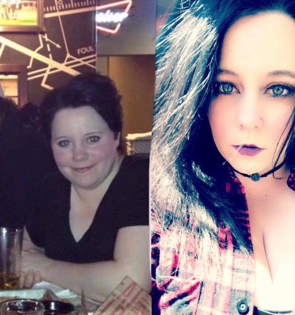 Me, before and after.