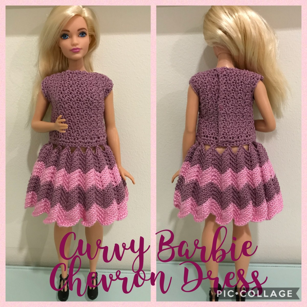 Curvy Barbie Chevron Dress (Free Crochet Pattern)