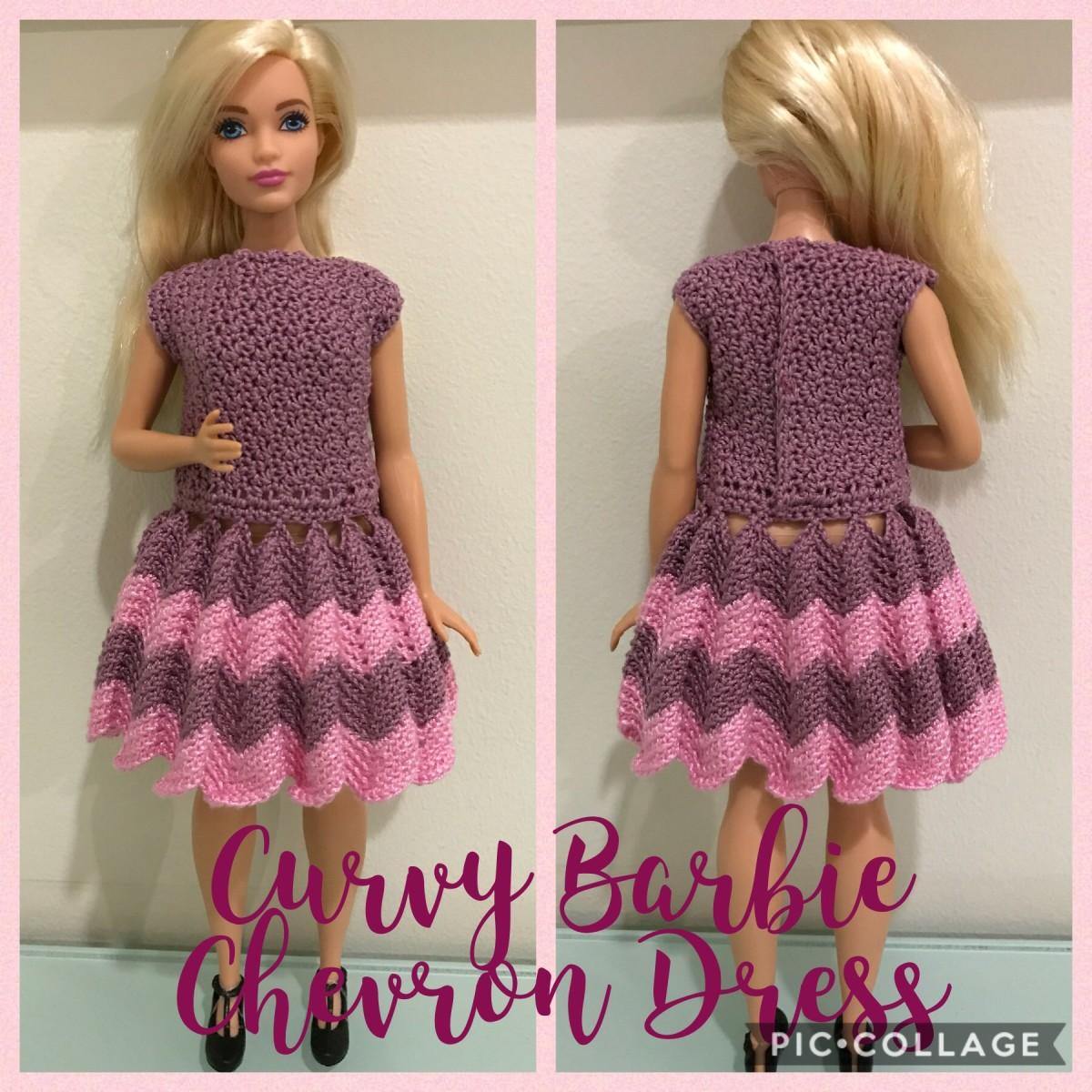 Curvy Barbie Chevron Dress