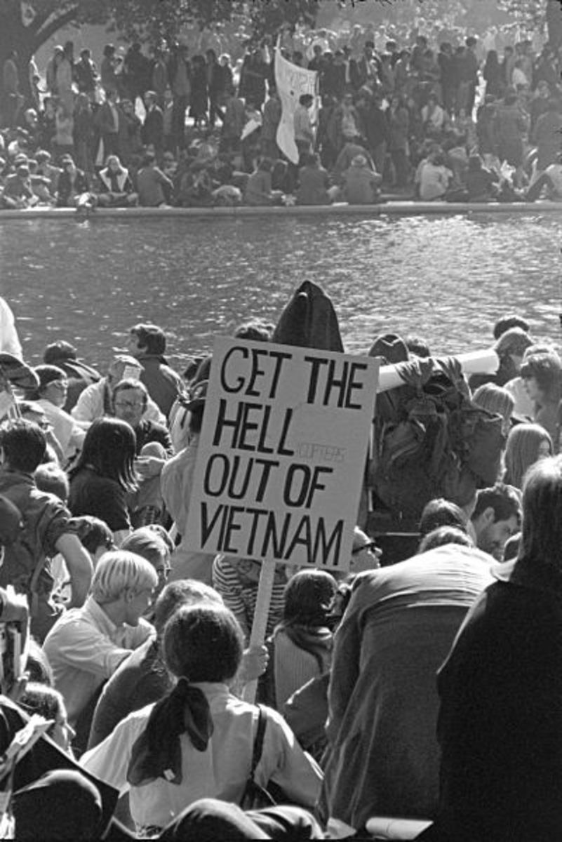 Vietnam War Protest in Washington, D.C. by Frank Wolfe, October 21, 1967.