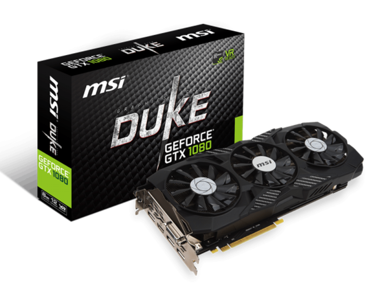 MSI GTX 1080 Duke Review and Benchmarks