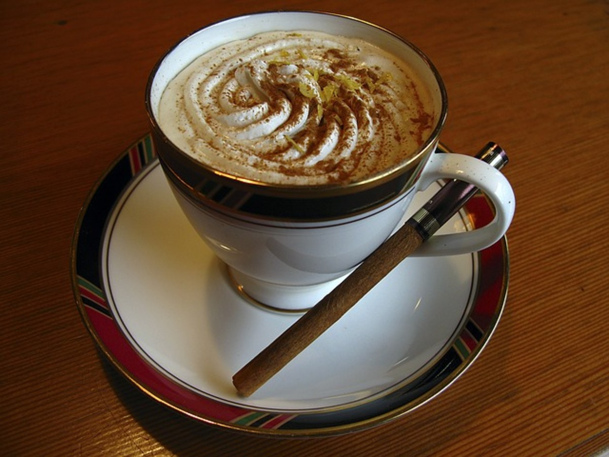Cappucino with cinnamon