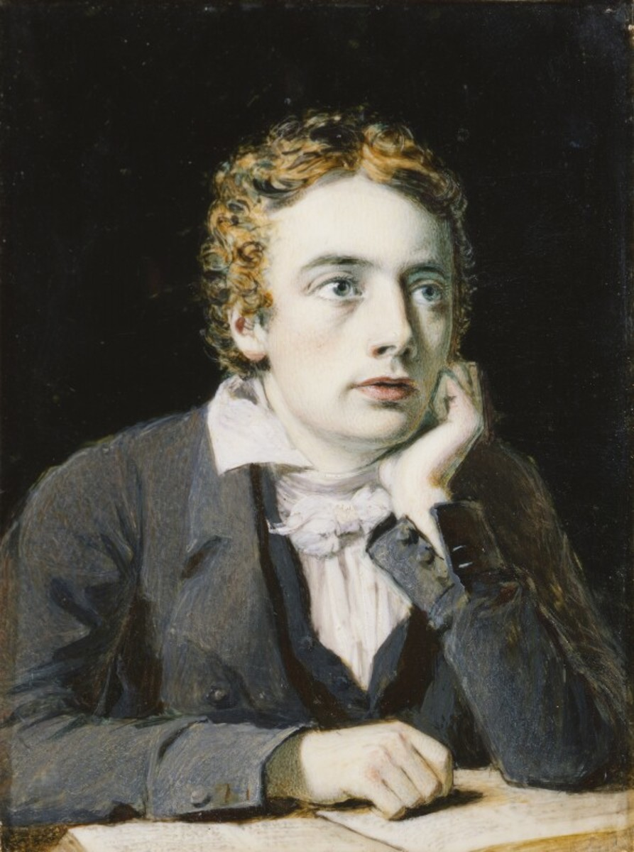 John Keats painted by Joseph Severn in 1819