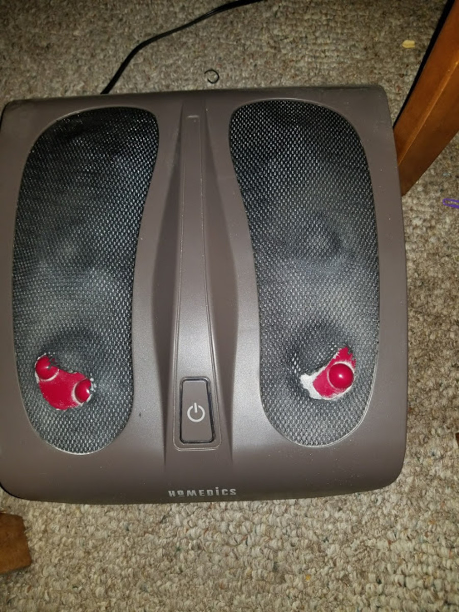 I use the Shiatsu foot massager to reduce my foot pain with a lot of success. This one is almost worn out. Time to buy a new one.