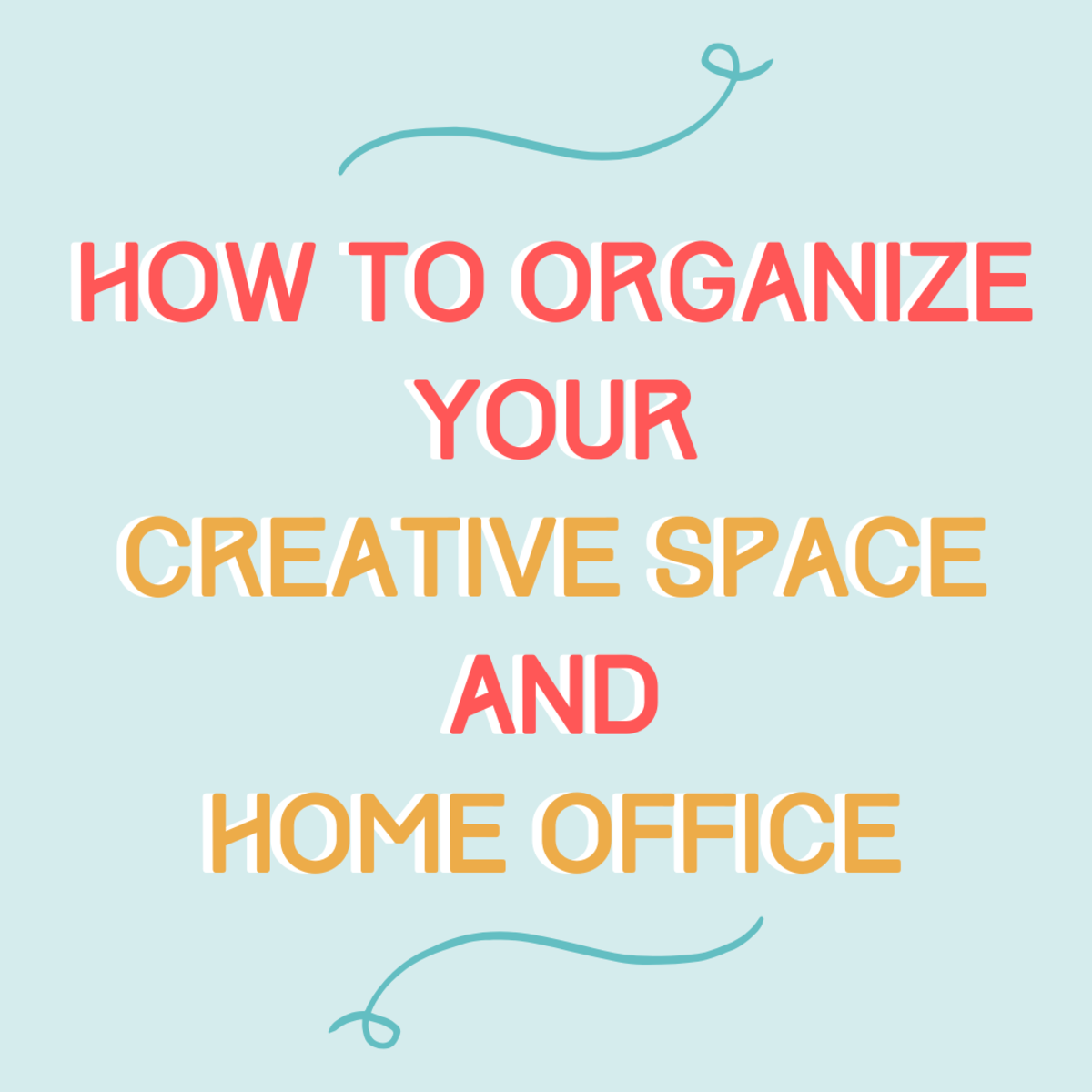Get some tips on getting organized to keep your projects and your home office tidy and productive.