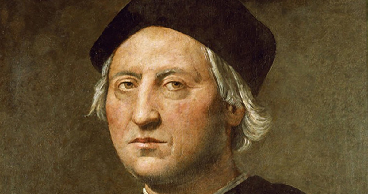 A painted likeness of Christopher Columbus created by Ridolfo Ghirlandaio