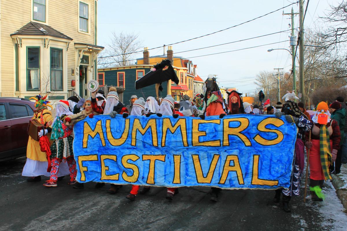 Annual mummers parade, St. John's, NL