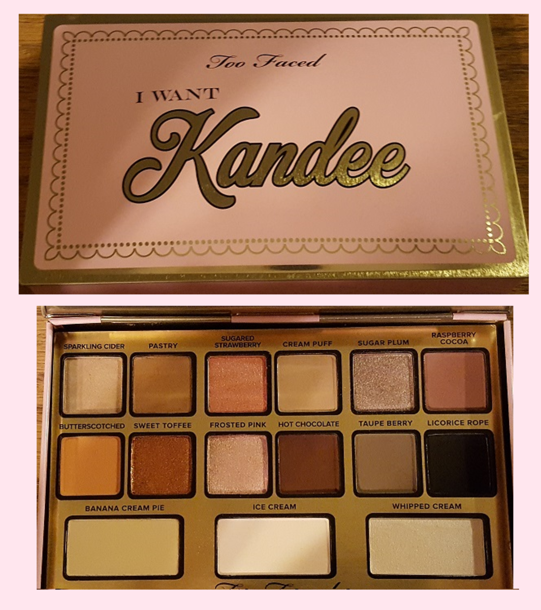 My I Want Kandee palette, which is packaged just like a tin of chocolates