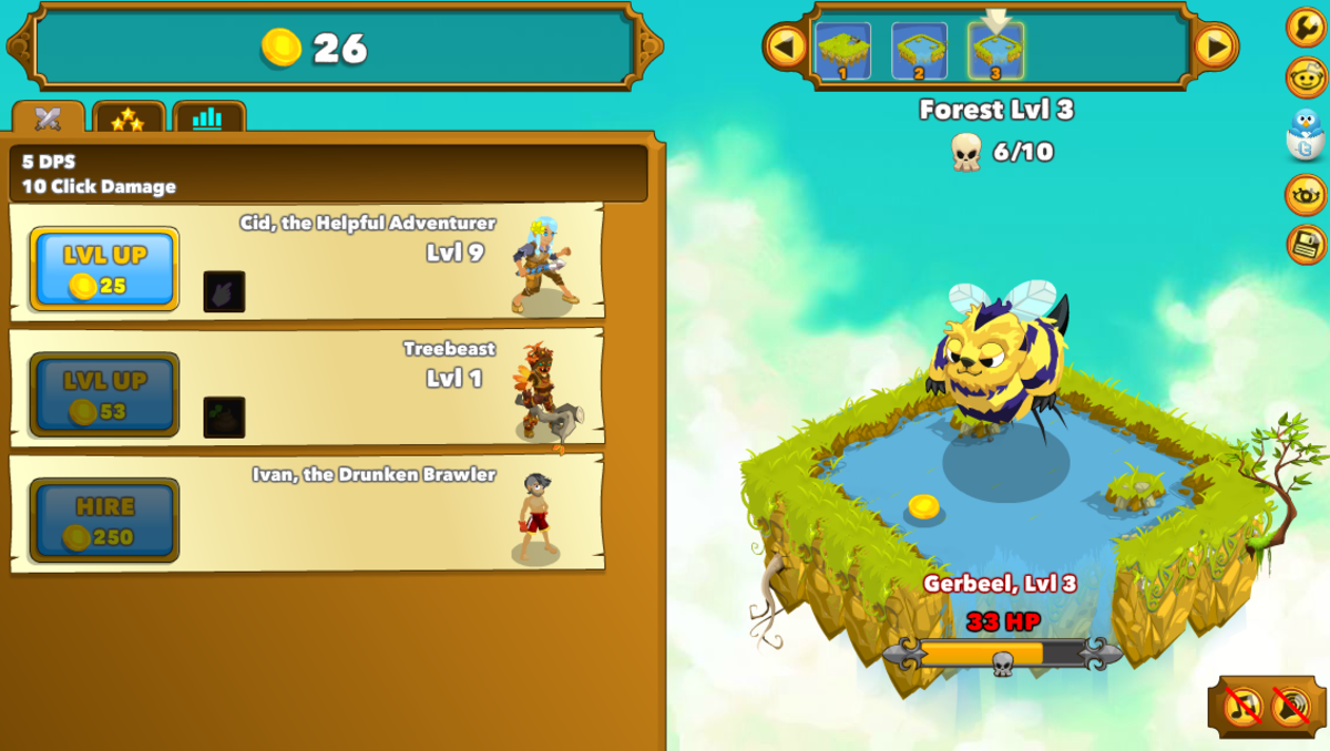 "The ""Level Up"" screen."