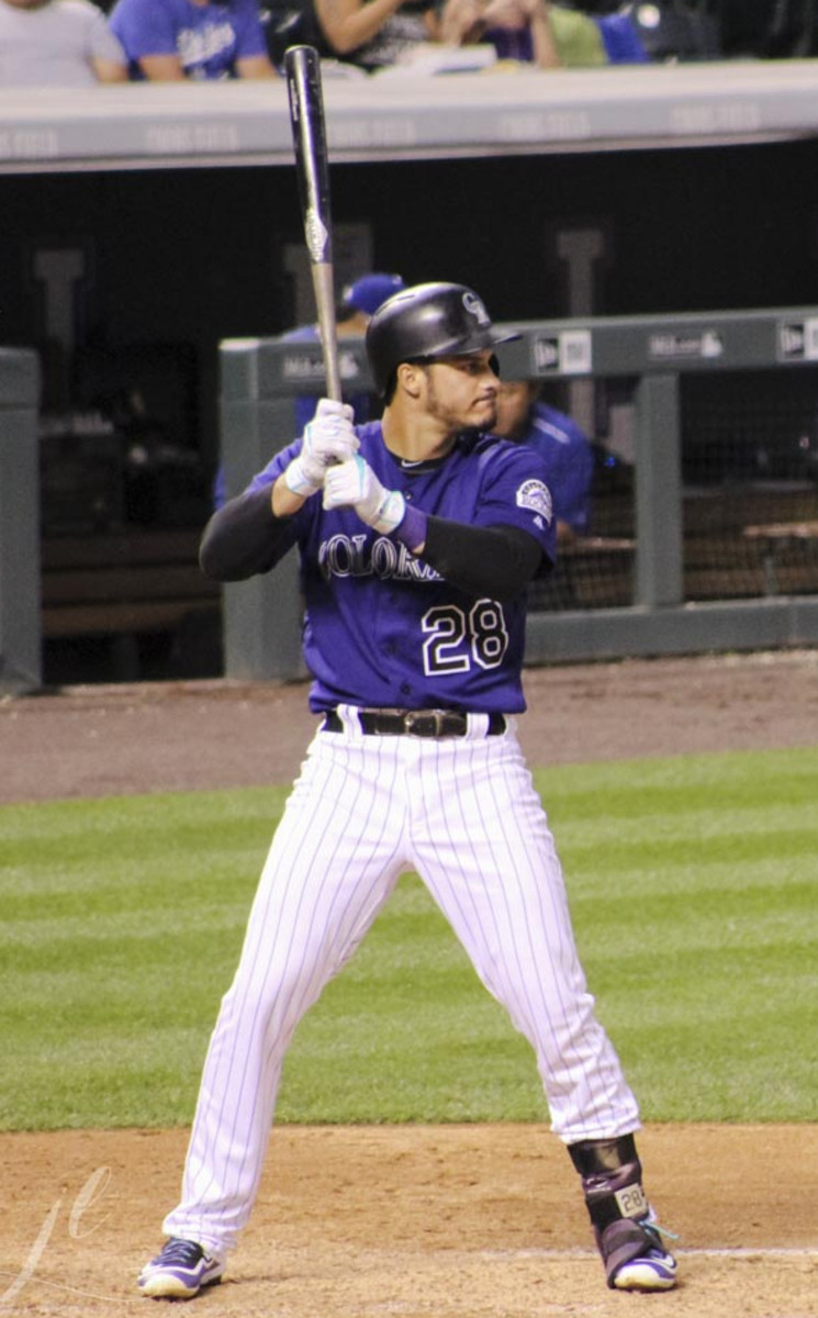 Nolan Arenado of Colorado is near the top of runs produced leaders for the second year in a row.