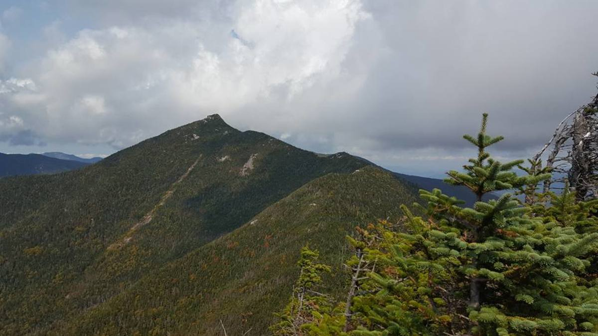 The view of the Beckhorn from the summit of Hough.  The Beckhorn is just short of the summit to Dix Mountain.