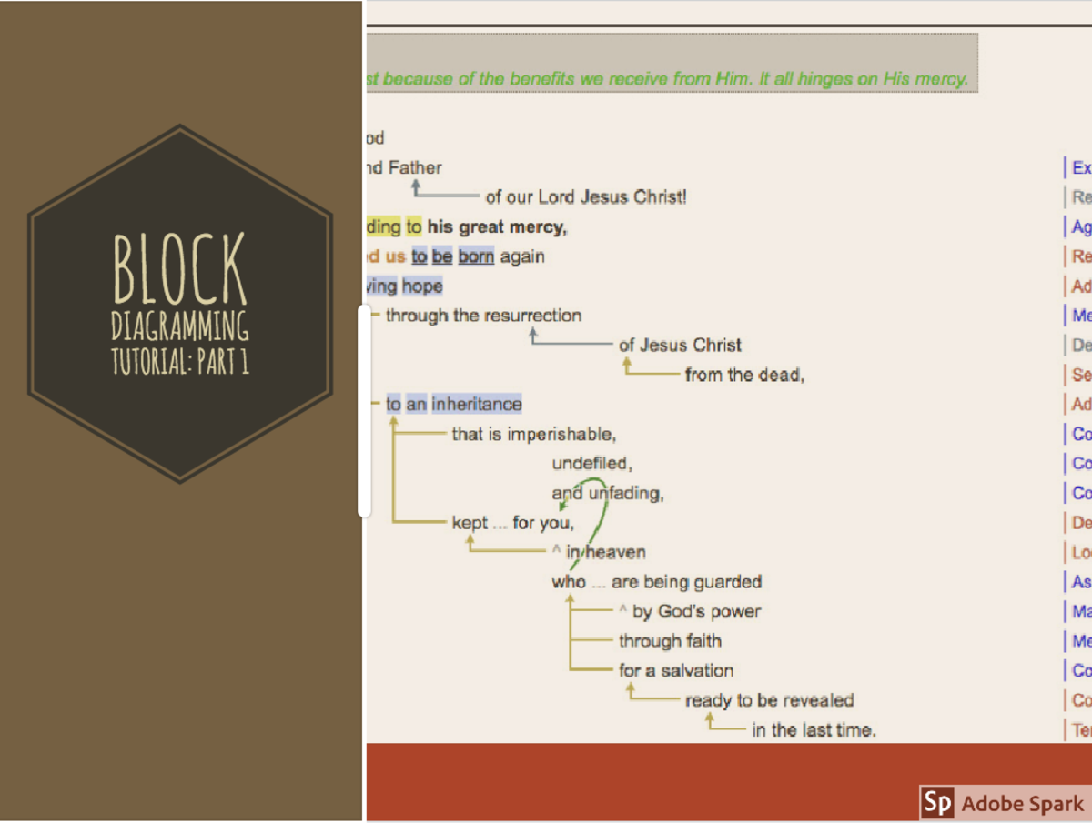 Block Diagramming for Bible Study
