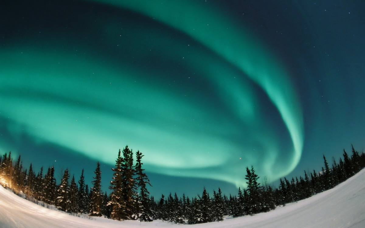 Many places in northern Europe, such as Tromso, Norway are prone to the occasional spectacular display of the Northern Lights.