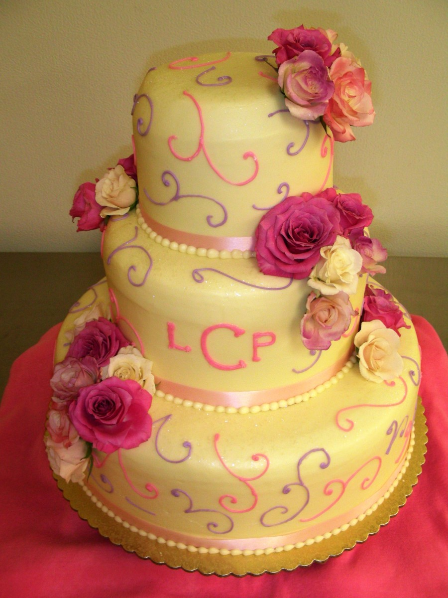 Baking and creating beautiful wedding cakes can be a good business.