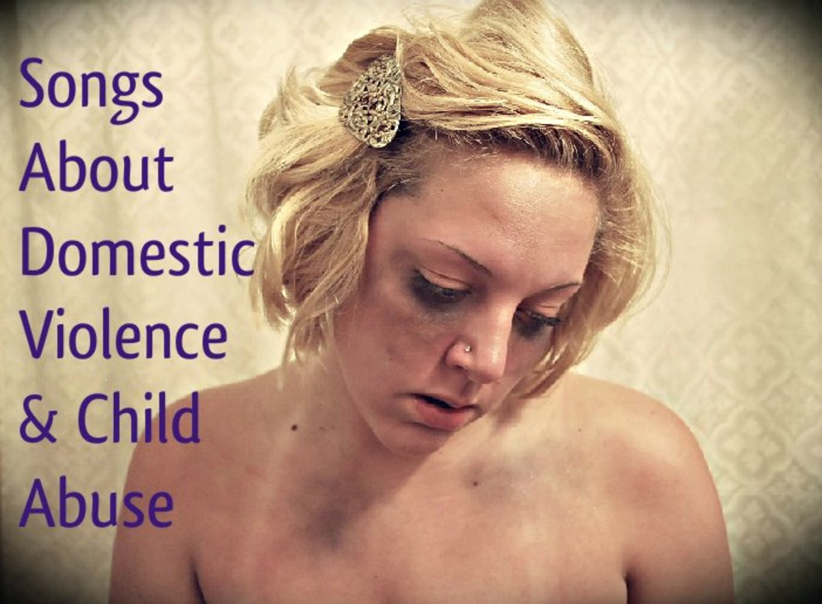 Spread awareness about domestic violence and child abuse with a playlist of pop, rock, and country songs.  Be part of the solution.