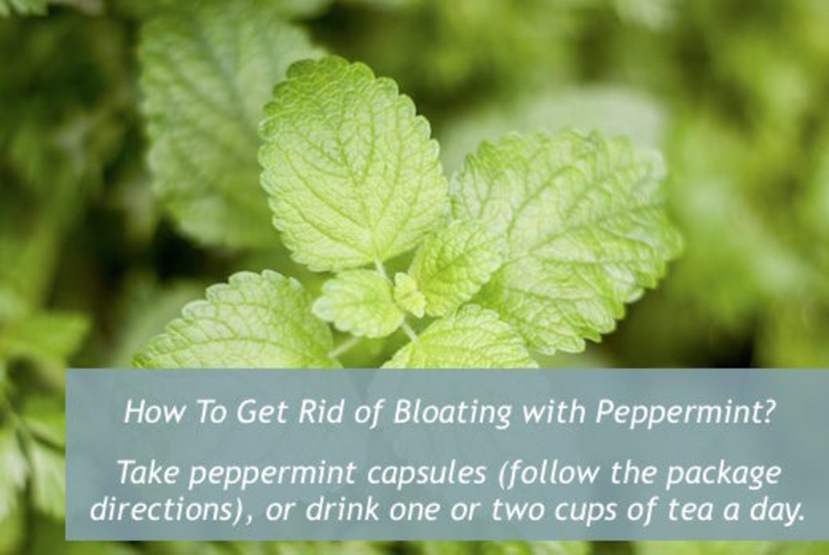 Peppermint is another natural remedy that is useful for relieving bloating in your stomach.