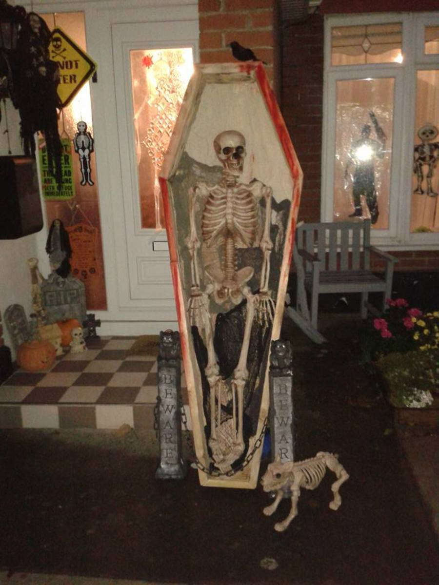 How to Make a Coffin for Your Halloween Display