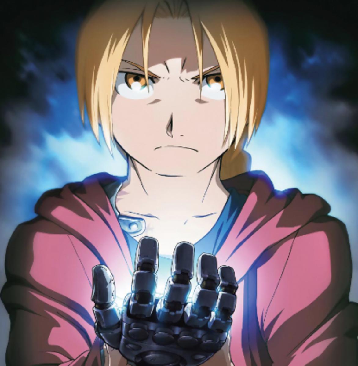 Edward Elric from 'Fullmetal Alchemist: Brotherhood.'
