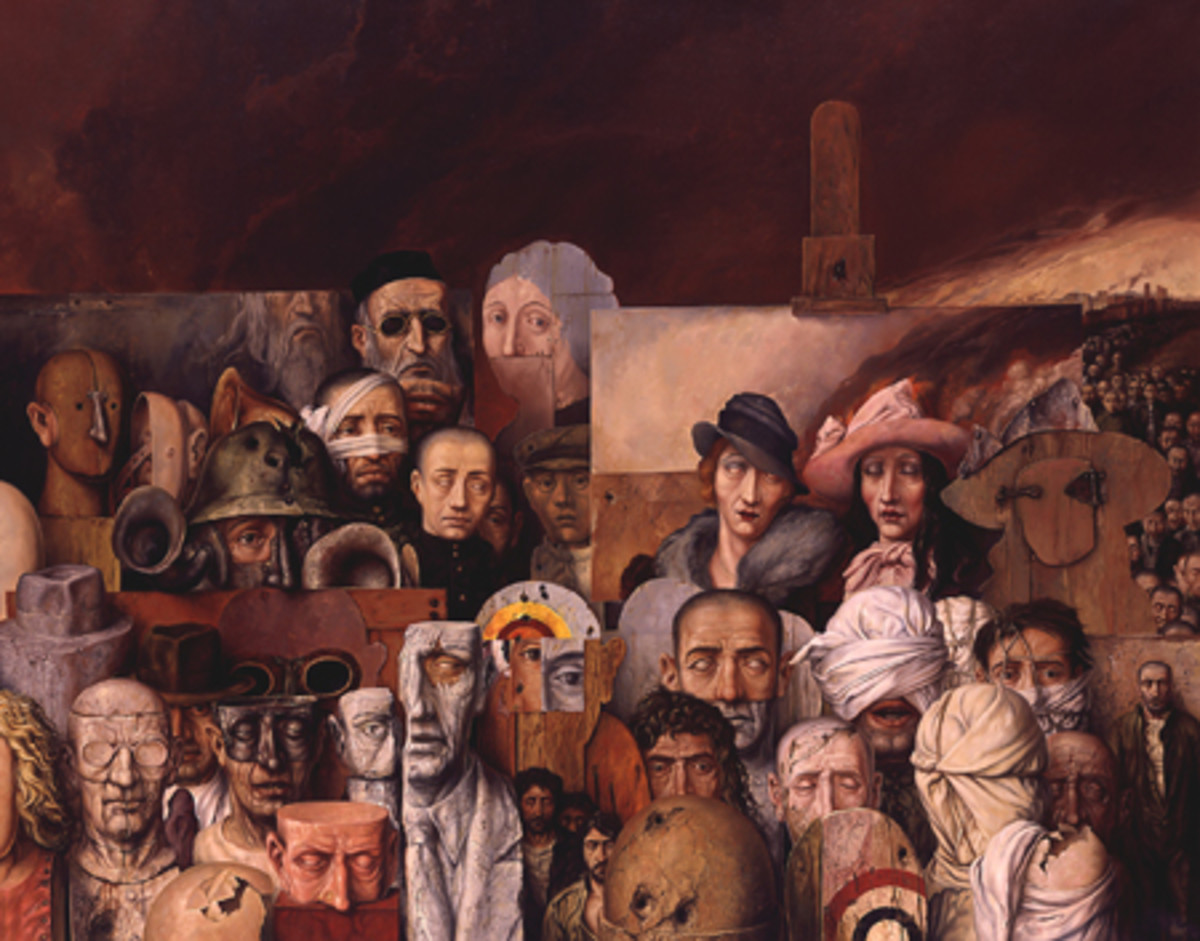 The Family is a 1974 painting by Samuel Bak, who now lives in the U.S.