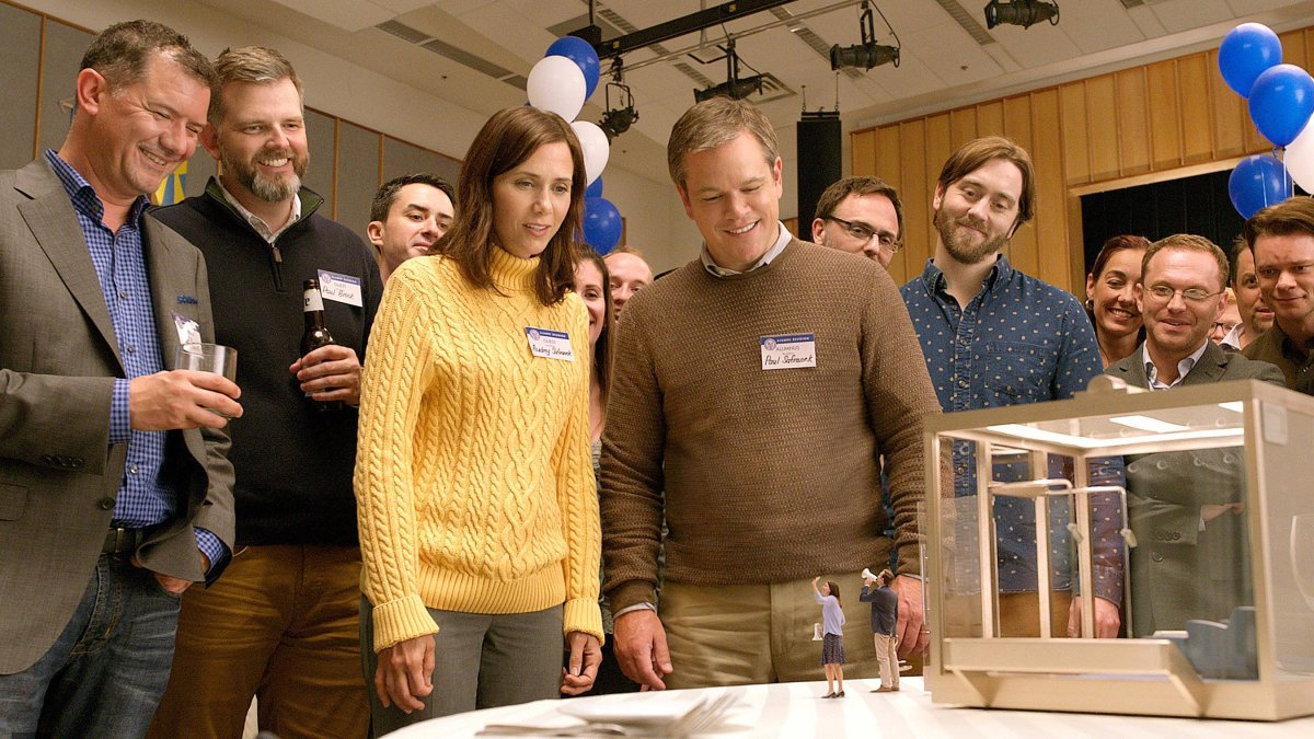 "Kristen Wiig and Matt Damon as Audrey and Paul Safranek in Alexander Payne's ""Downsizing."""