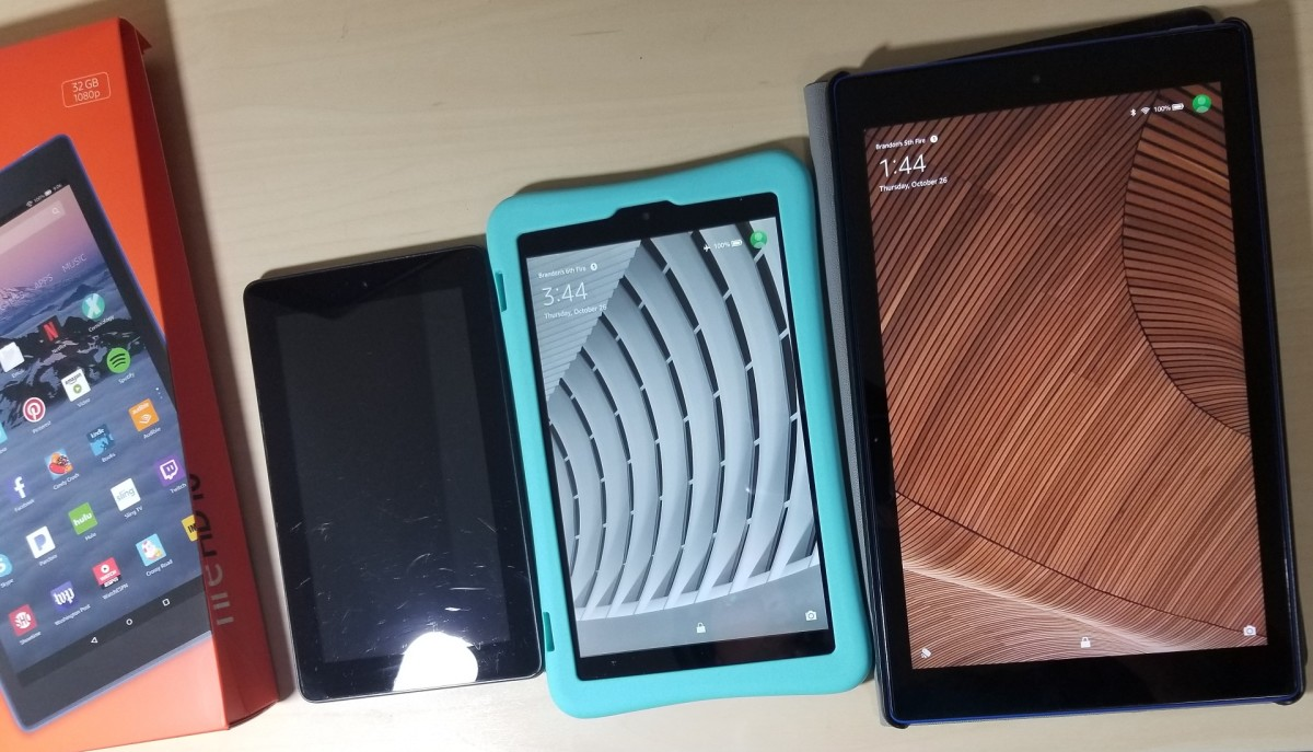 Amazon Fire HD 10 vs 8 vs 7 -  7th Gen Comparison