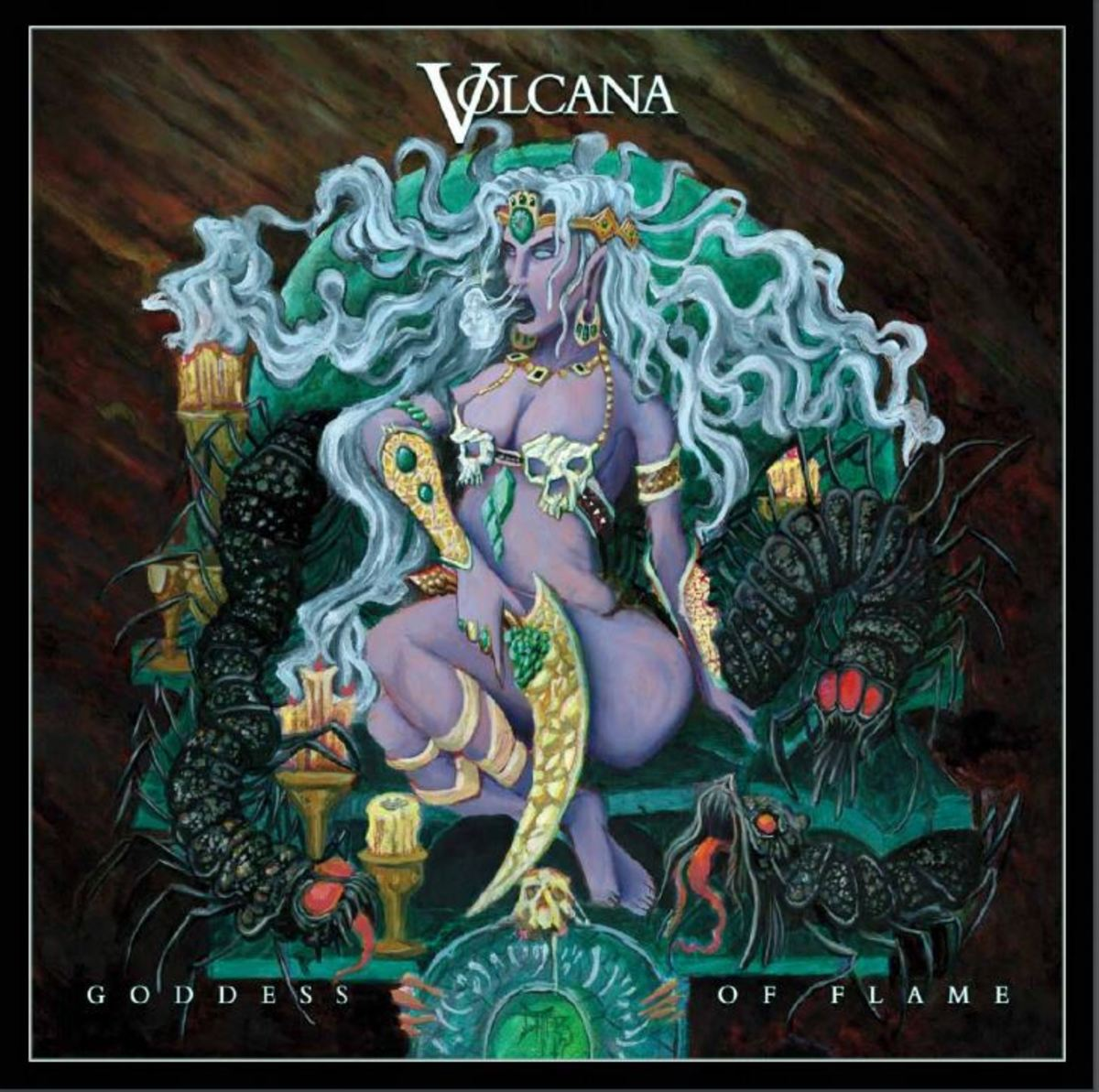 "Volcana ""Goddess of Flame"" CD cover"