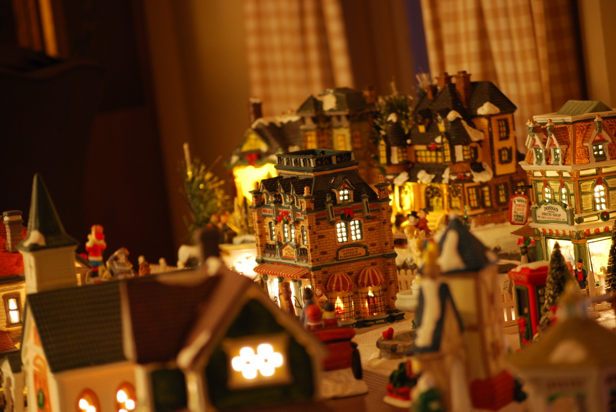 A beautiful example of a Christmas village.