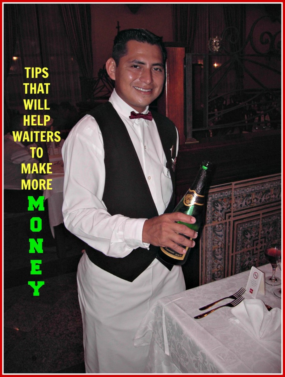 Advice that will help waiters and waitresses to improve their earnings.