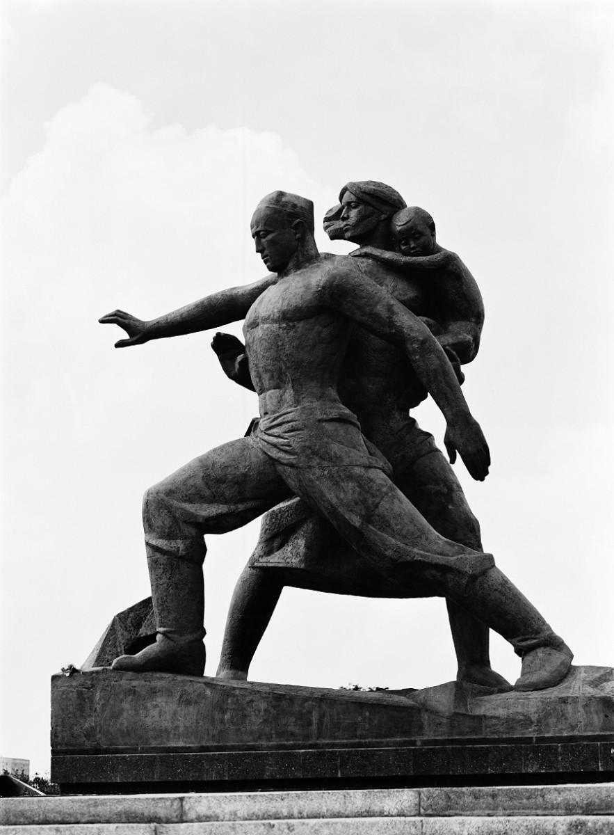The monument complex Courage dedicated to the 1966 earthquake in Tashkent, Uzbekistan.