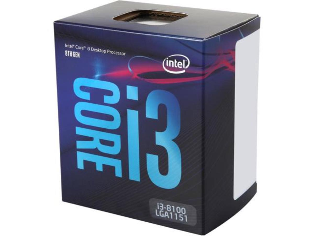 Intel's Coffee Lake processor, the i3-8100