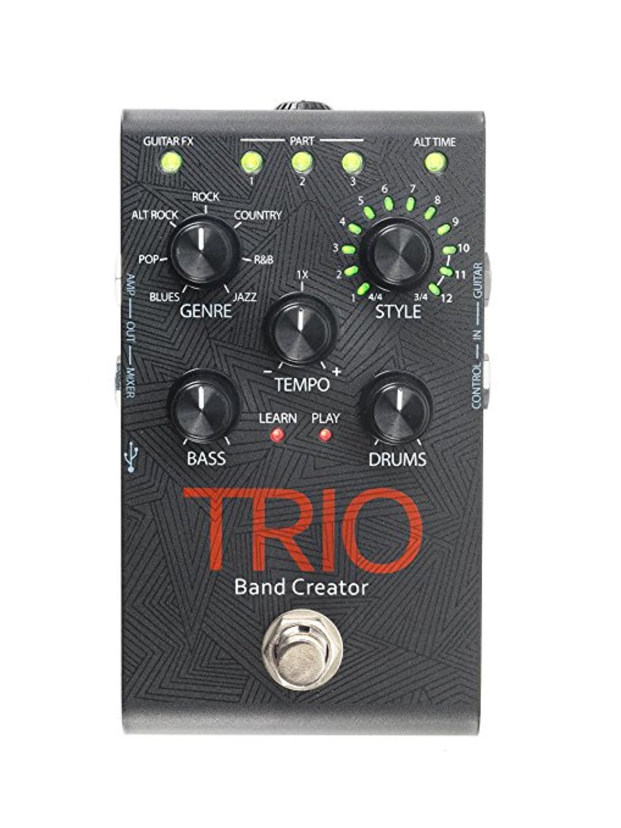 Product Review: Digitech TRIO Electric Guitar Multi Effect, Band Creator