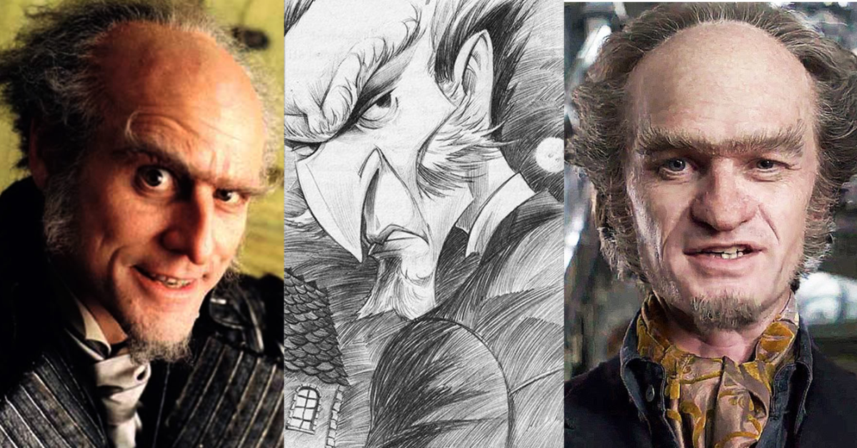 The faces of Count Olaf.