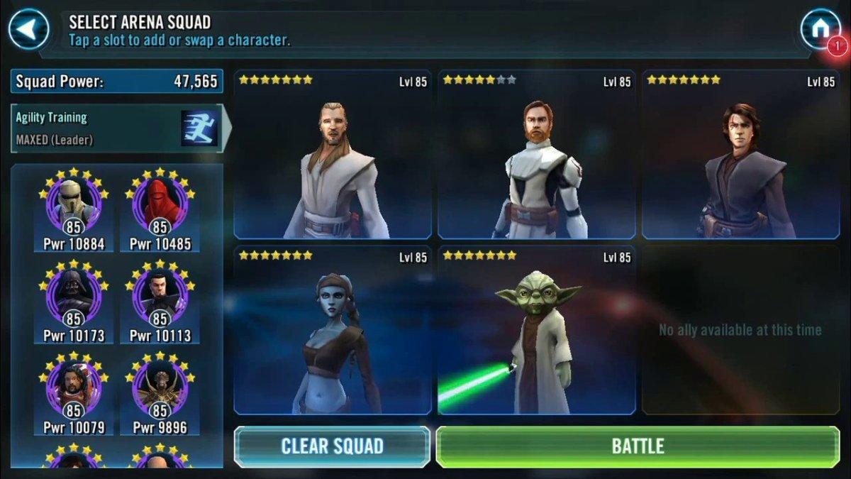 SWGOH Jedi Arena