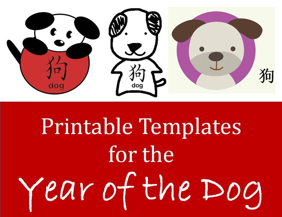 Kids' Crafts for Chinese New Year (Printable Dog Templates)