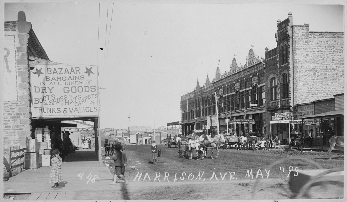 Downtown Guthrie, 1893