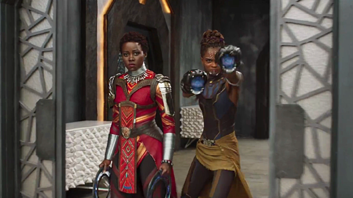 Nakia and Shuri look to overthrow Killmonger in order to restore power to King T'Challa