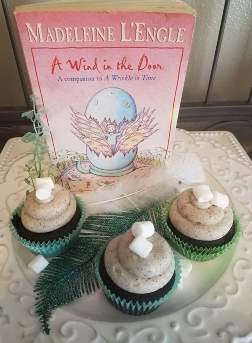 """A Wind in the Door"" Book Discussion and Hot Cocoa Cupcakes Recipe With Coffee Cream Cheese Frosting"