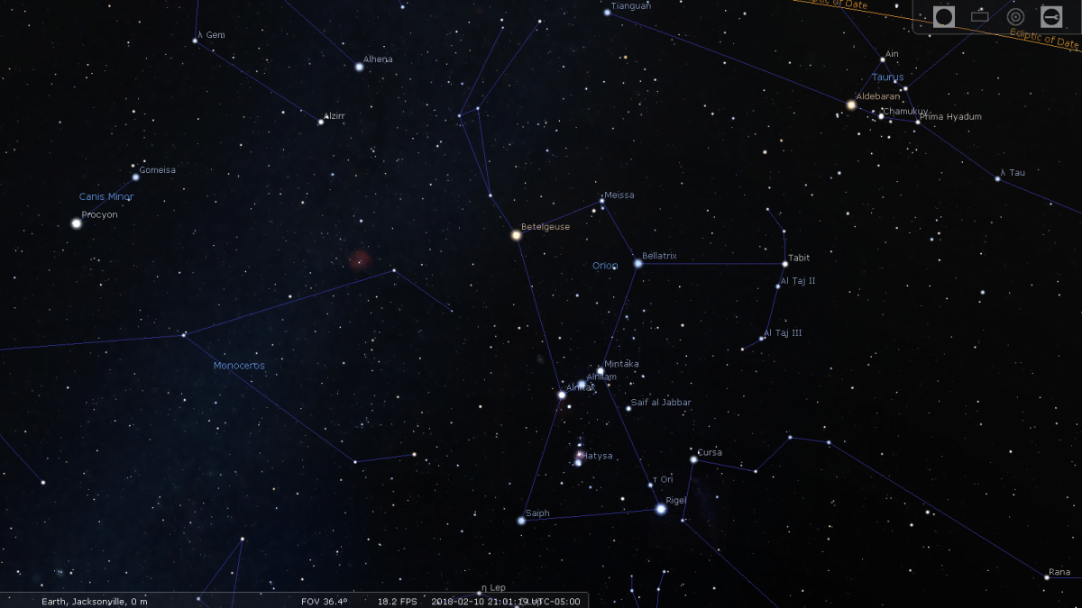 Navigating the Sky with the Constellation Orion