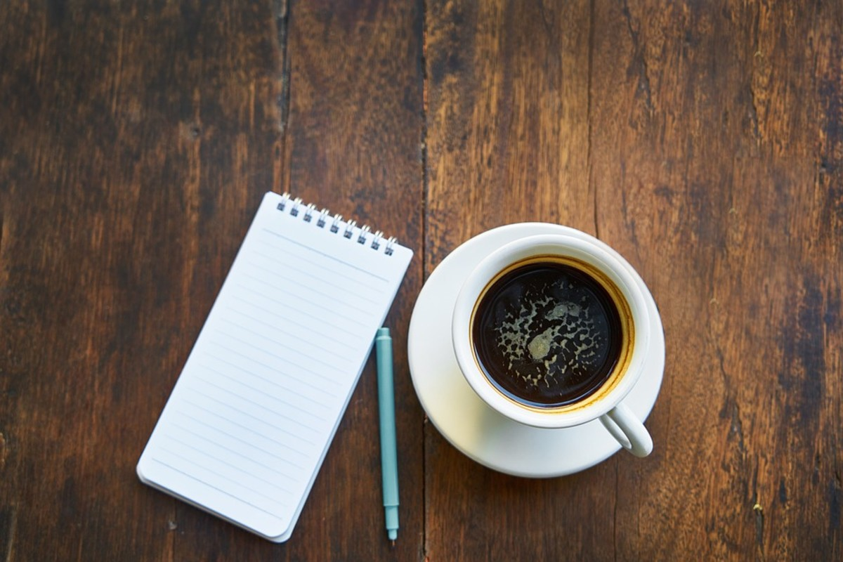 Two of my favorite things: Coffee and writing.