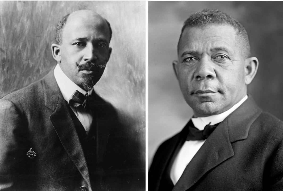W. E. B. Du Bois (left) and Booker T. Washington